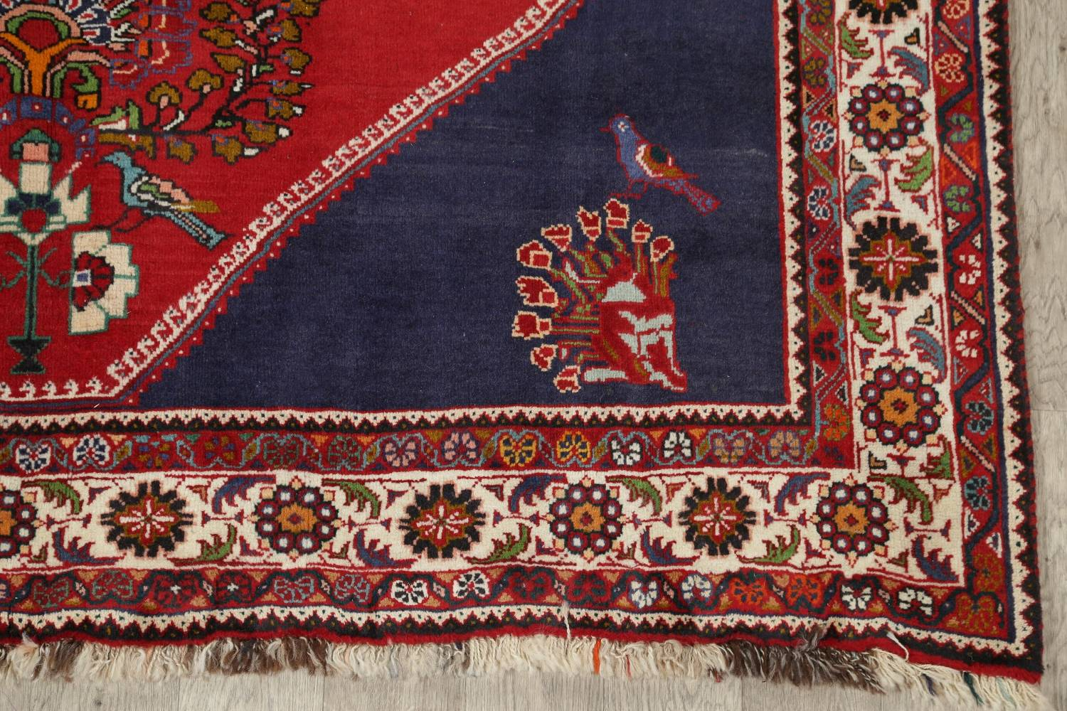 Animal Pictorial Kashkoli Persian Hand-Knotted 7x9 Wool Area Rug image 6