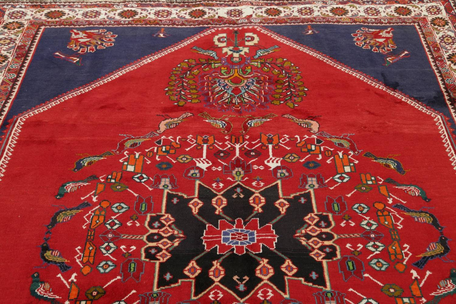 Animal Pictorial Kashkoli Persian Hand-Knotted 7x9 Wool Area Rug image 11