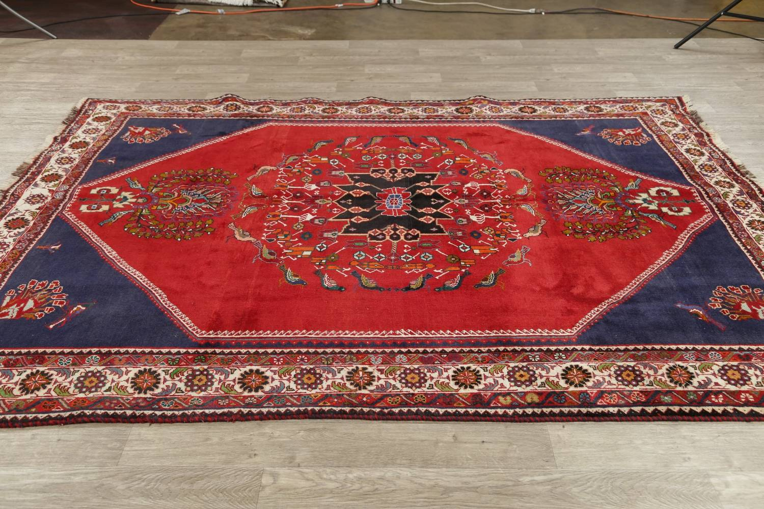 Animal Pictorial Kashkoli Persian Hand-Knotted 7x9 Wool Area Rug image 13