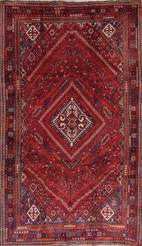 Antique Geometric Lori Persian Hand-Knotted 6x10 Wool Area Rug
