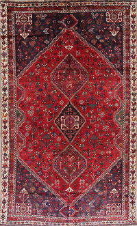Tribal Geometric Abadeh Nafar Persian 6x10 Wool Area Rug