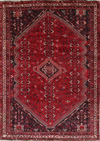 Tribal Geometric Abadeh Nafar Persian Hand-Knotted 7x10 Wool Area Rug