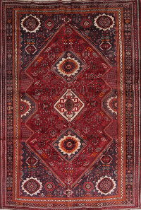 Tribal Geometric Kashkoli Shiraz Persian 7x11 Wool Area Rug