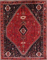 Antique Tribal Geometric Lori Persian 7x10 Red Area Rug