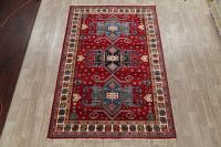 Geometric Red Kazak Turkish Oriental 7x10 Area Rug