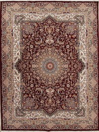 Geometric Tabriz Turkish Oriental 10x13 Acrylic Wool Area Rug