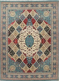 Geometric Oushak Turkish Oriental 10x13 Acrylic Wool Area Rug