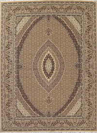 Geometric Brown Bidjar Turkish Oriental 10x13 Acrylic Wool Area Rug