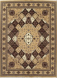 Geometric Bakhtiari Turkish Oriental 10x13 Acrylic Wool Area Rug