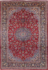 Traditional Floral Najafabad Persian Hand-Knotted 8x12 Wool Area Rug