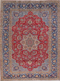 Traditional Floral Najafabad Persian Hand-Knotted 10x13 Wool Area Rug