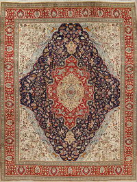 Animal Pictorial Tabriz Tabatabaie Persian Handmade 9x13 Wool Area Rug