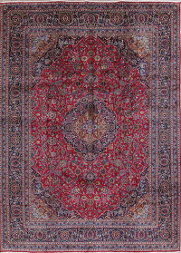 Traditional Floral Kashmar Persian Hand-Knotted 9x13 Wool Area Rug