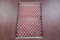 Checked Geometric Gabbeh Persian Hand-Knotted 2x4 Wool Rug image 19