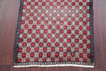 Checked Geometric Gabbeh Persian Hand-Knotted 2x4 Wool Rug image 16