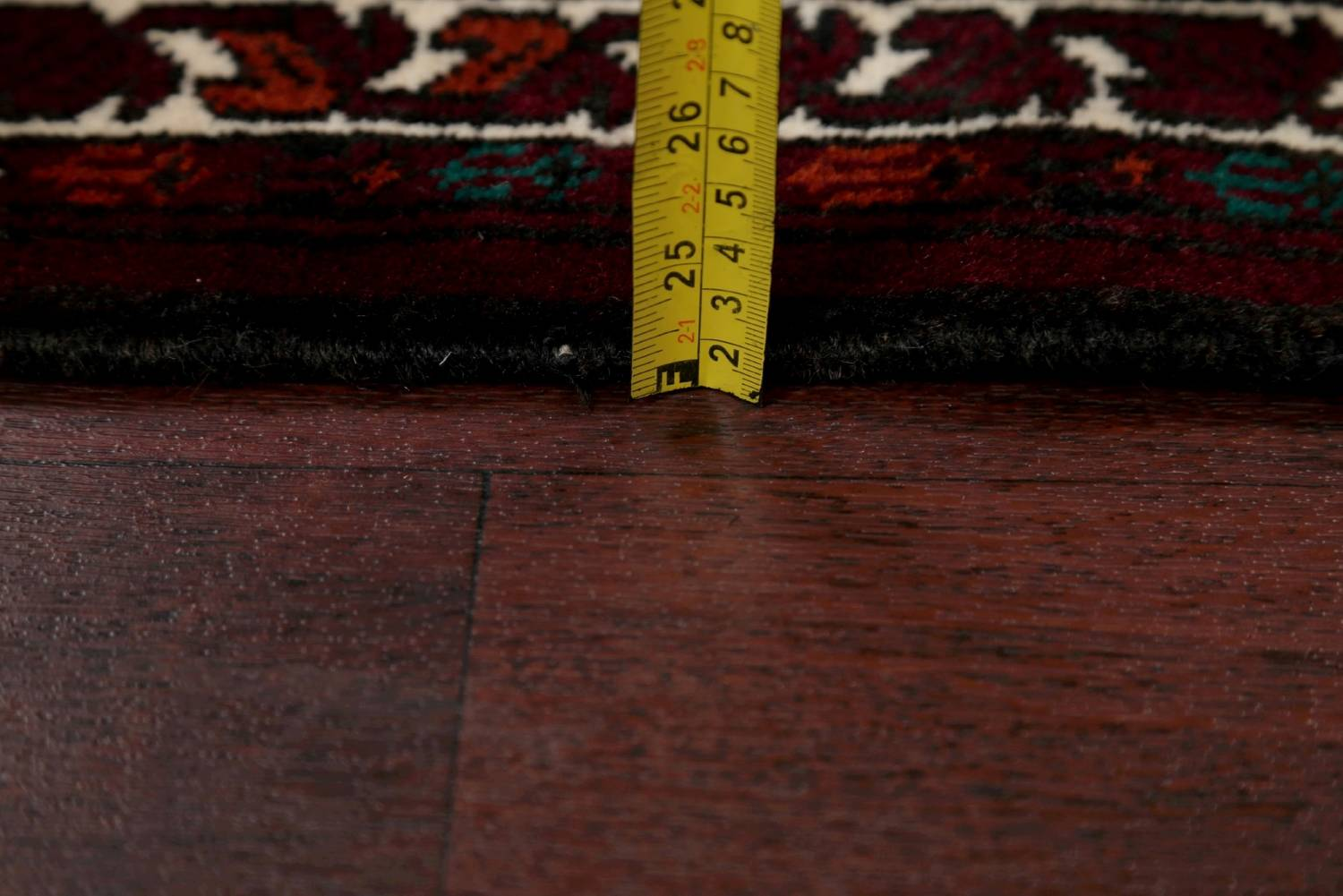 Geometric Balouch Persian Hand-Knotted 3x4 Prayer Rug image 16