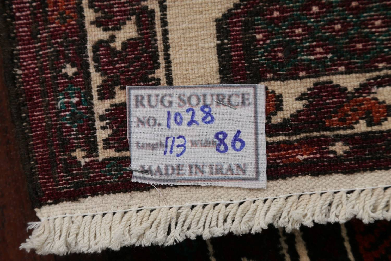 Geometric Balouch Persian Hand-Knotted 3x4 Prayer Rug image 19