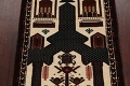 Geometric Balouch Persian Hand-Knotted 3x4 Prayer Rug image 3