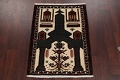 Geometric Balouch Persian Hand-Knotted 3x4 Prayer Rug image 2