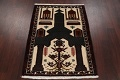 Geometric Balouch Persian Hand-Knotted 3x4 Prayer Rug image 12