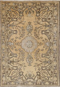 Geometric Tabriz Persian Hand-Knotted 3x5 Wool Rug