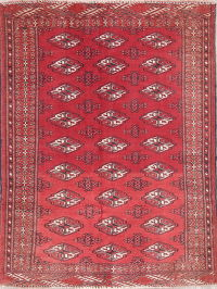 Antique Geometric Balouch Persian Hand-Knotted 3x4 Wool Rug