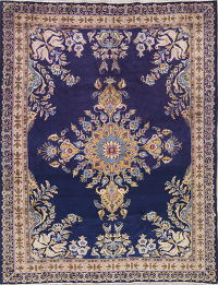Traditional Floral Kashan Persian Hand-Knotted 5x7 Wool Area Rug