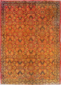 All-Over Geometric Mahal Persian Hand-Knotted 4X7 Wool Area Rug