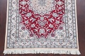 Floral Red Nain Persian Hand-Knotted 5x7 Wool Silk Area Rug image 5