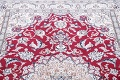 Floral Red Nain Persian Hand-Knotted 5x7 Wool Silk Area Rug image 10