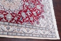 Floral Red Nain Persian Hand-Knotted 5x7 Wool Silk Area Rug image 11