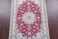 Floral Red Nain Persian Hand-Knotted 5x7 Wool Silk Area Rug image 3