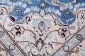 Floral Blue Nain Persian Hand-Knotted 4x7 Wool Silk Area Rug image 7