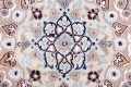Floral Blue Nain Persian Hand-Knotted 4x7 Wool Silk Area Rug image 10