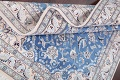 Floral Blue Nain Persian Hand-Knotted 4x7 Wool Silk Area Rug image 15