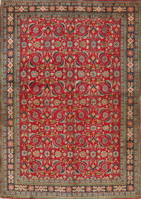 Vegetable Dye Geometric Kashkoli Persian Hand-Knotted 4x5 Wool Area Rug