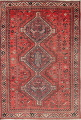 Antique Tribal Shiraz Persian Hand-Knotted 6x8 Wool Area Rug image 1