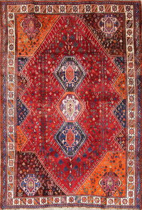 Tribal Geometric Lori Persian Hand-Knotted 6x8 Wool Area Rug