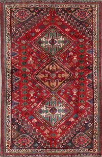 Vegetable Dye Tribal Abadeh Nafar Persian Hand-Knotted 3x5 Wool Rug
