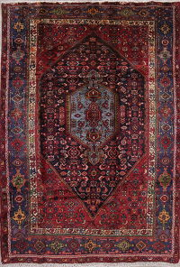 Geometric Malayer Persian Hand-Knotted 5x7 Wool Area Rug