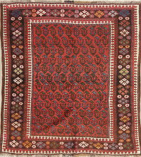 Vegetable Dye Antique Bakhtiari Saman Persian Handmade 4x5 Wool Rug