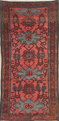 Pre-1900 Antique Sarouk Persian Hand-Knotted 3x6 Wool Runner Rug