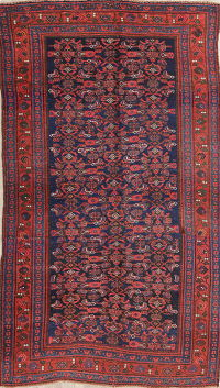 Antique Geometric Bidjar Persian Hand-Knotted 5x8 Wool Area Rug