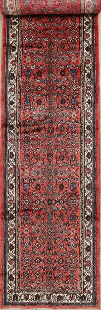 17' Long Runner Hamedan Persian Runner Rug 4x17 Hand-Knotted