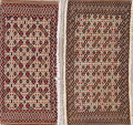 Set Of Two Geometric Bokhara Persian Hand-Knotted 2x3 Wool Rugs image 1