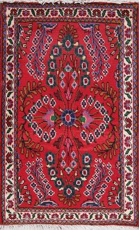 Floral Red Lilian Persian Hand-Knotted 2x3 Wool Rug