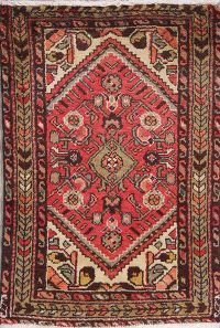 Geometric Red Malayer Persian Hand-Knotted 2x3 Wool Rug