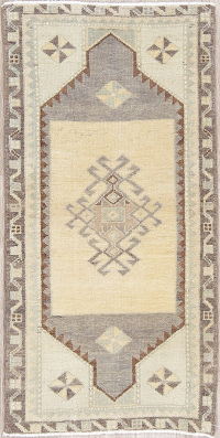 Geometric Oushak Persian Hand-Knotted 2x3 Wool Rug