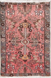 Floral Pink Lilian Persian Hand-Knotted 2x3 Wool Rug