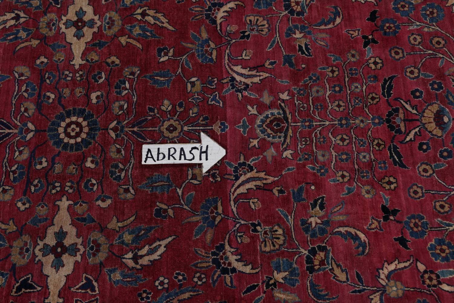 Pre-1900 Antique Floral Sultanabad Persian Hand-Knotted 12x18 Wool Rug image 15